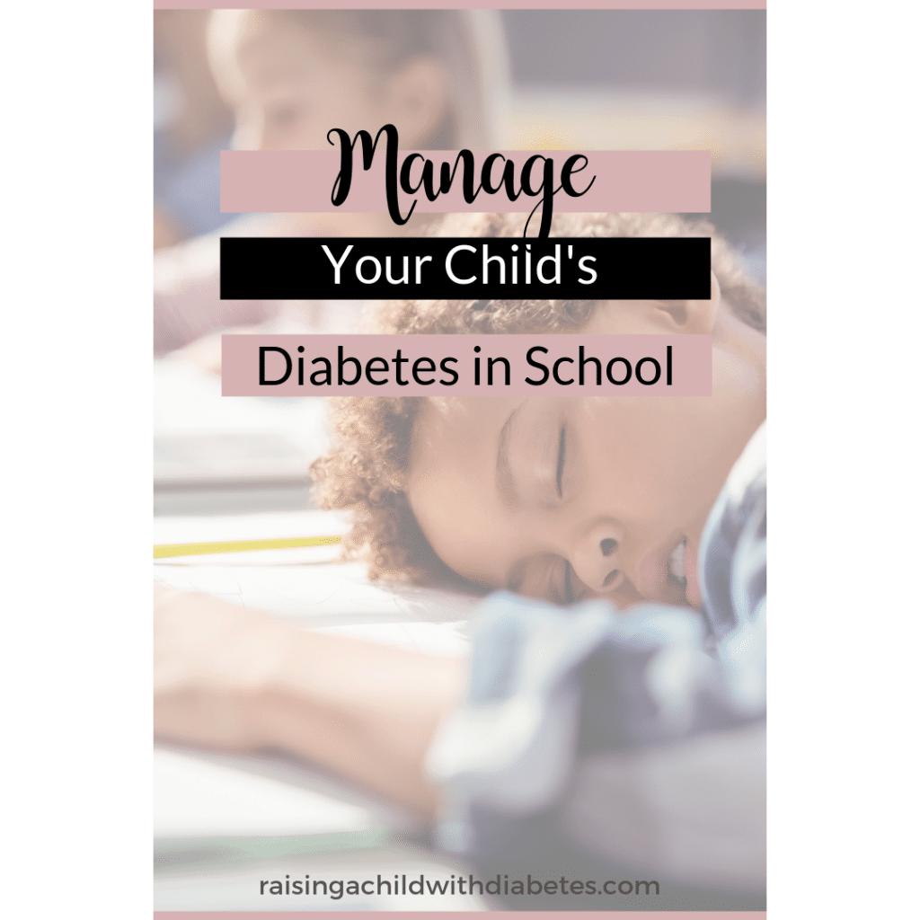 managing type 1 diabetes in school