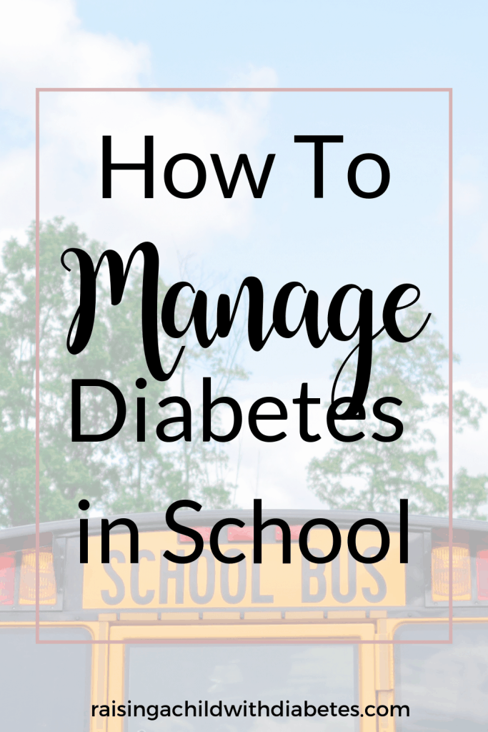 manage diabetes in school pin